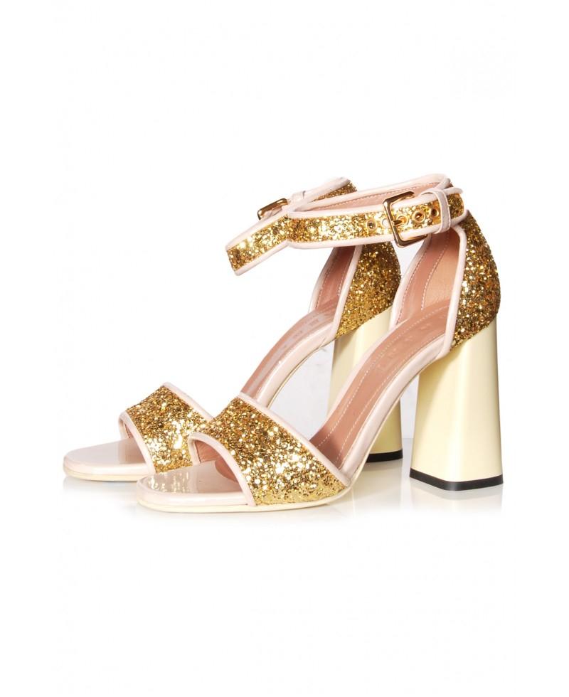 Carlos Women S Gold Heel Shoes