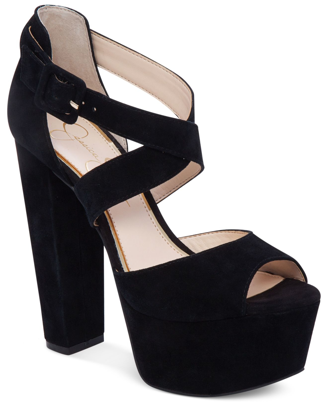 033183aa5d44 Lyst - Jessica Simpson Derian Platform Sandals in Black