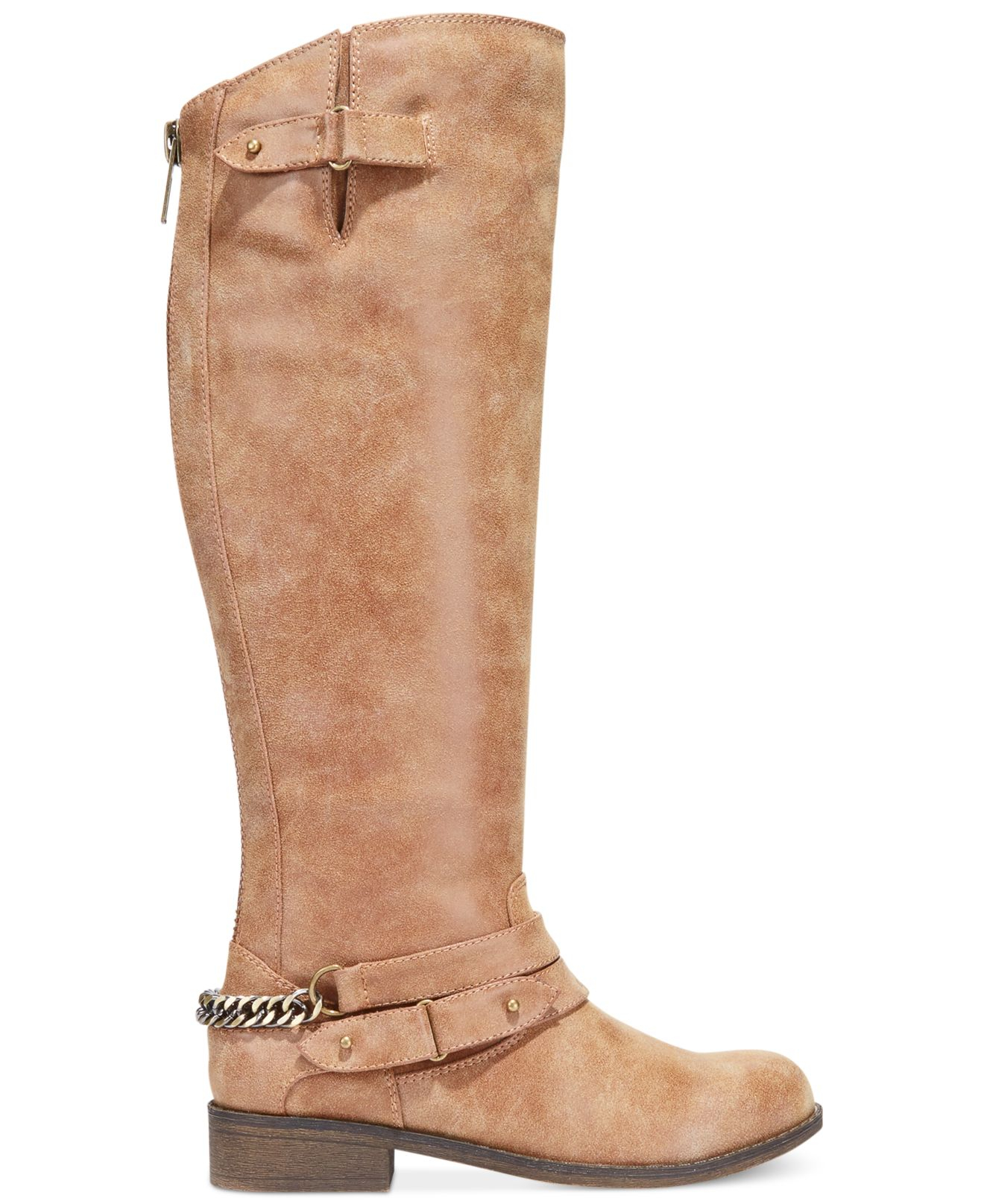 madden caanyon shaft boots in brown lyst