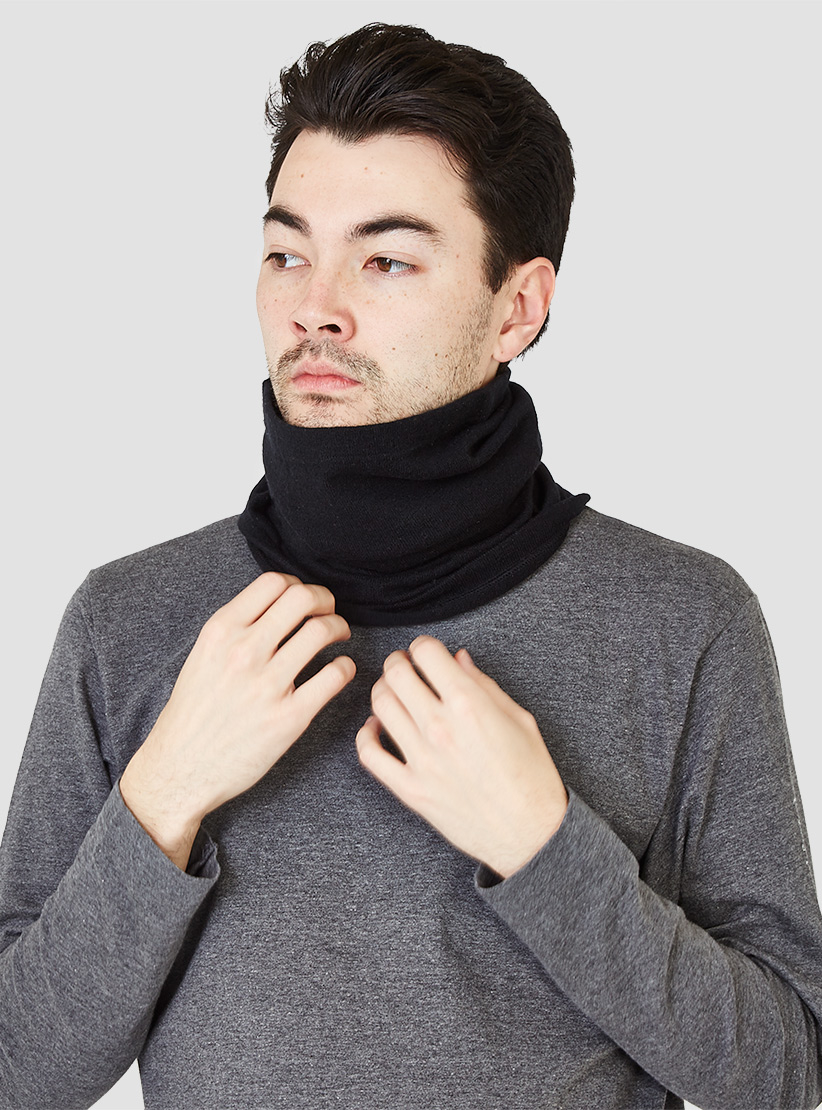Mountain Research Cashmere German Neck Warmer Black In