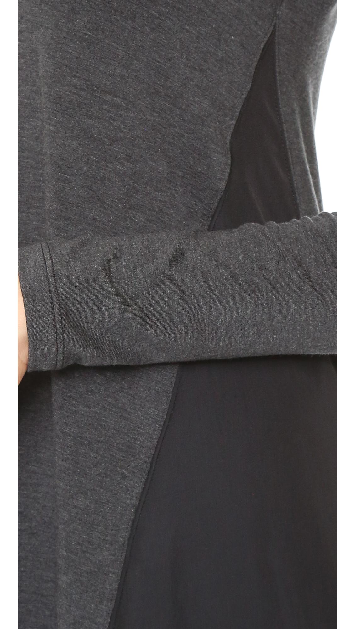 Splendid Long Sleeve Flowy Dress - Charcoal in Grey