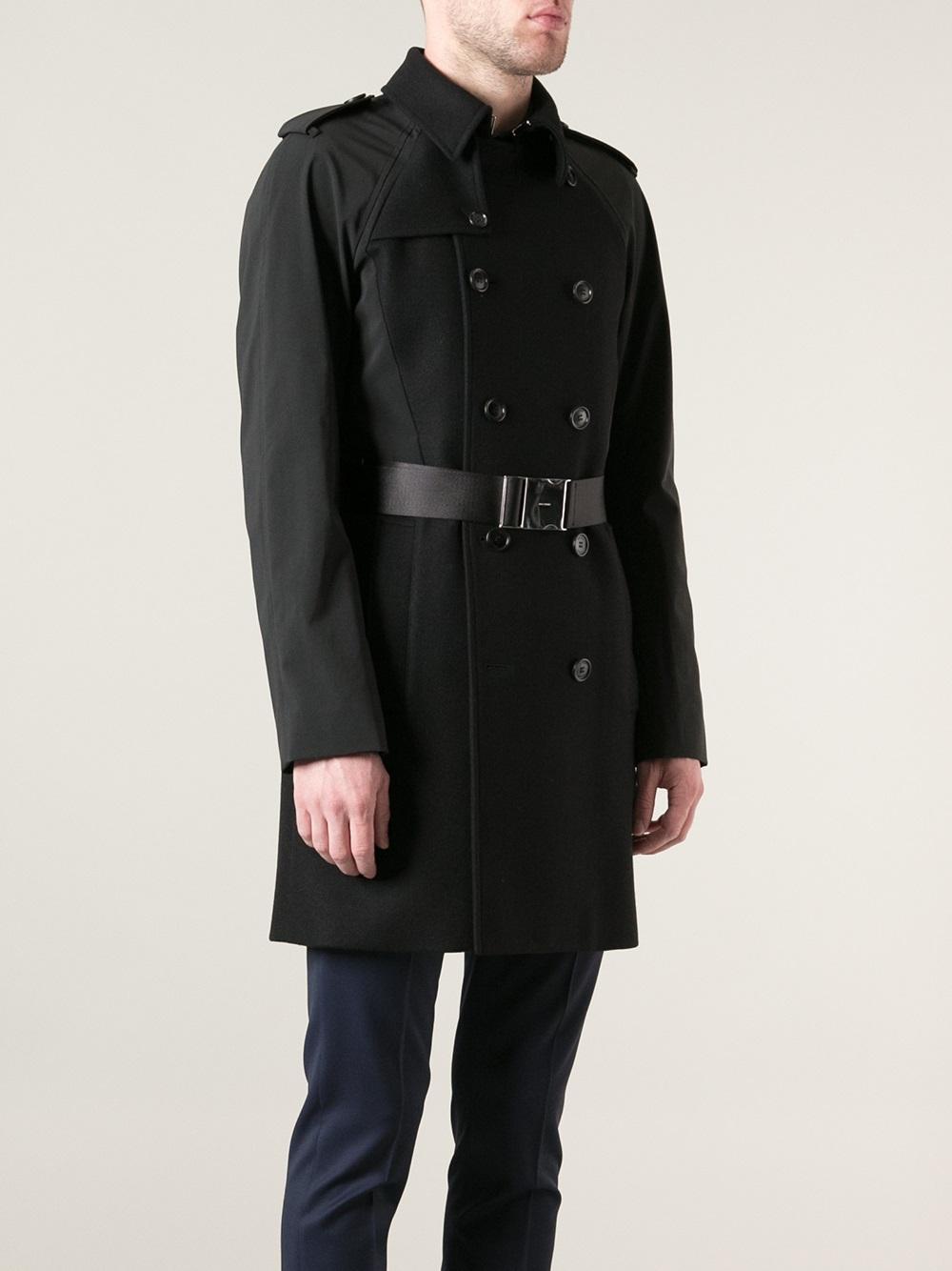 dior homme trench coat in black for men lyst. Black Bedroom Furniture Sets. Home Design Ideas