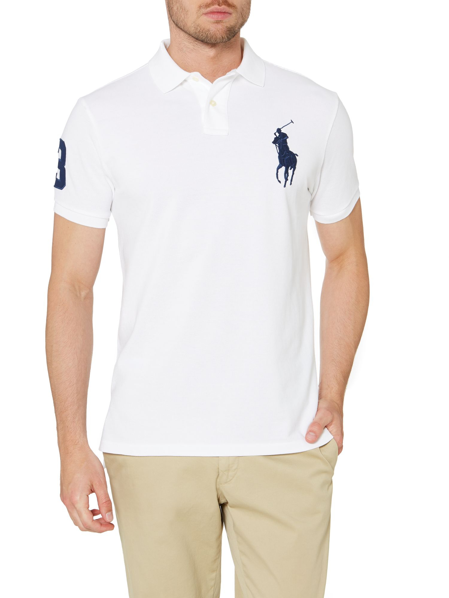 polo ralph lauren custom fit short sleeve big pony polo. Black Bedroom Furniture Sets. Home Design Ideas