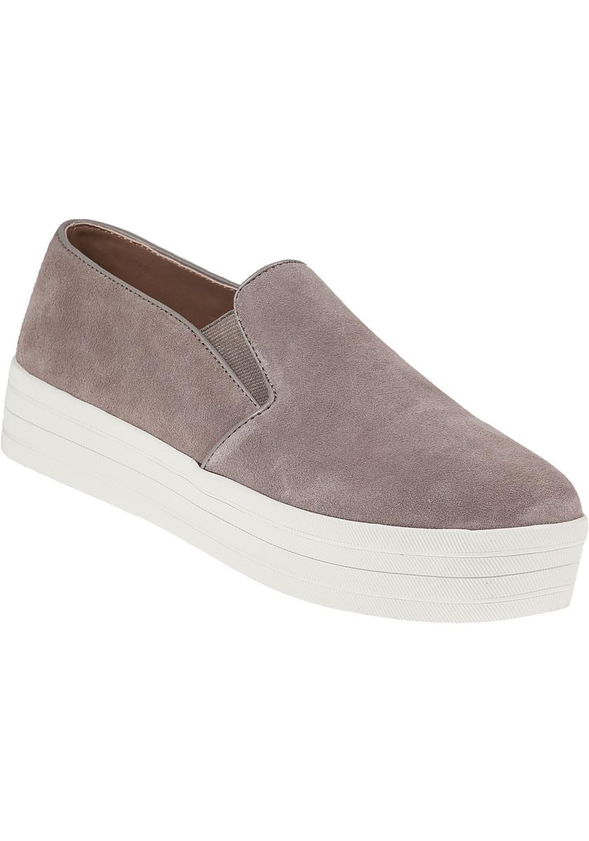 23c637df85c Steve Madden Buhba Suede Platform Sneakers in Brown - Lyst