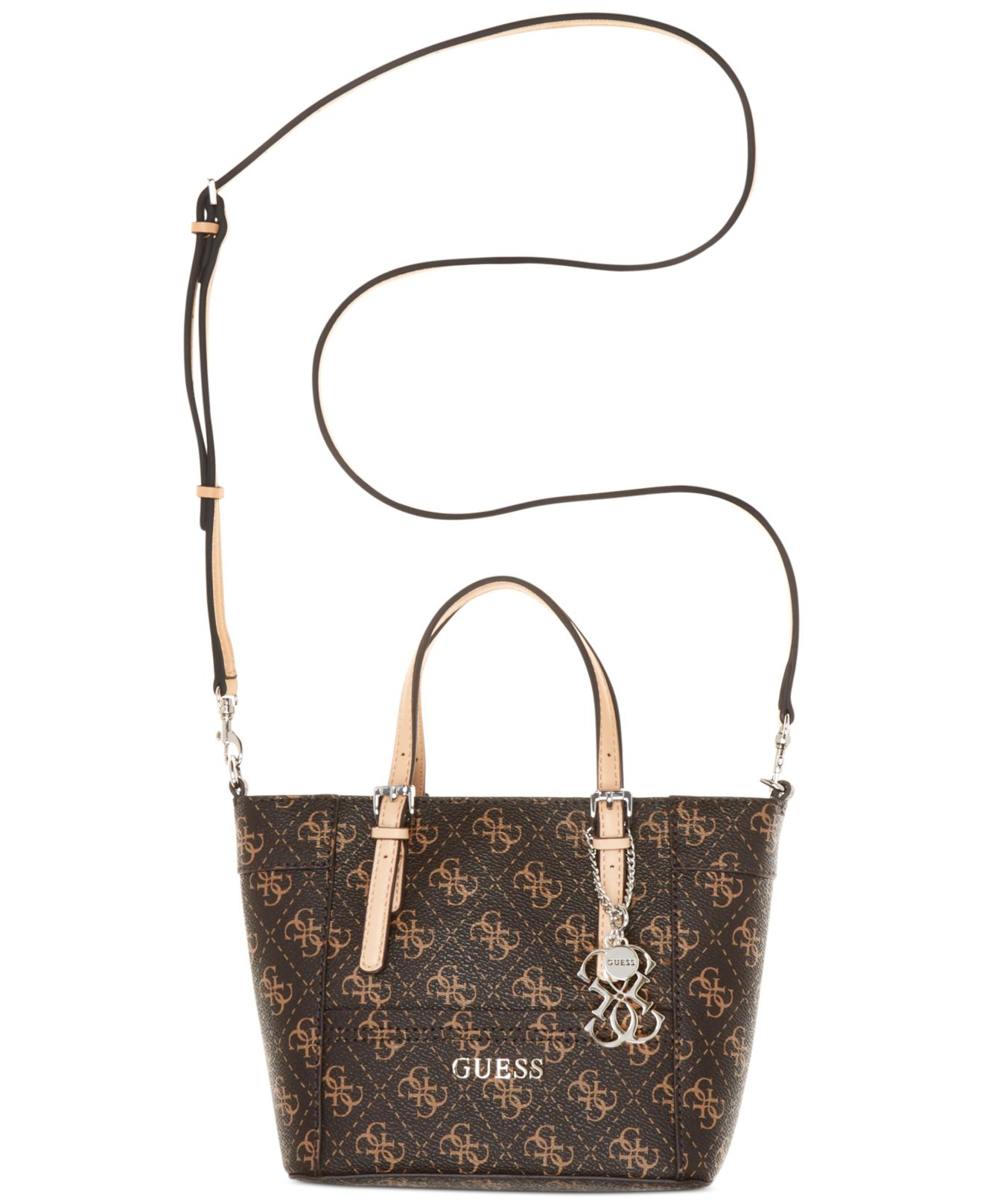 24cb3490a6ee Lyst - Guess Delaney Petite Tote in Brown
