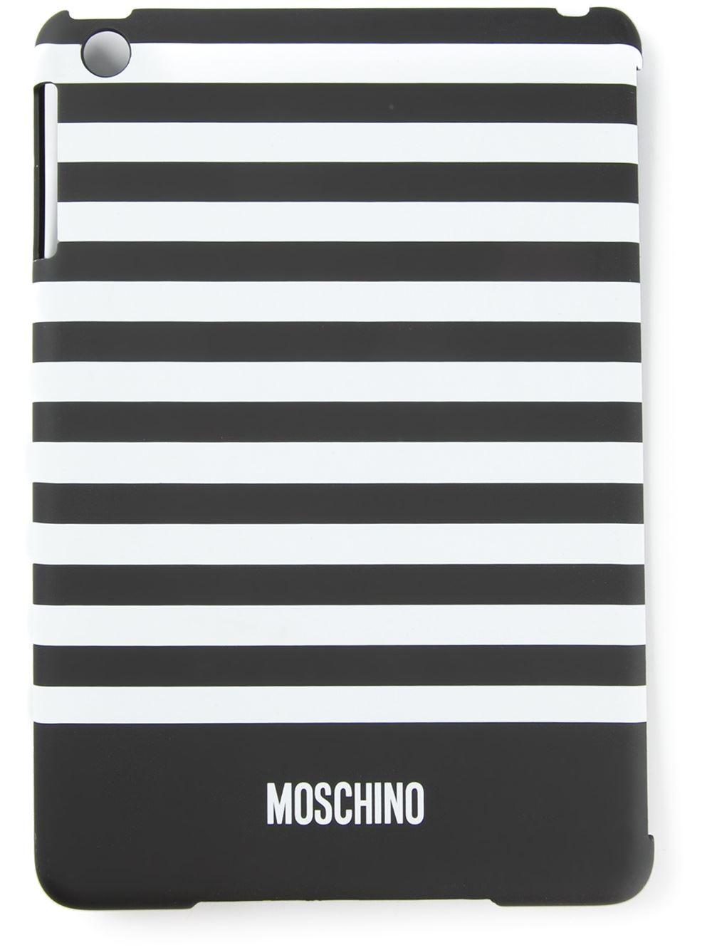 cheap for discount e678b 34f4c Moschino Black Striped Ipad Mini Case for men