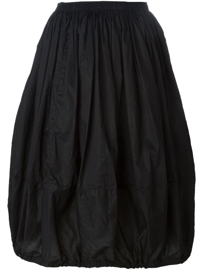 Lyst Rundholz Elasticated Balloon Skirt In Black