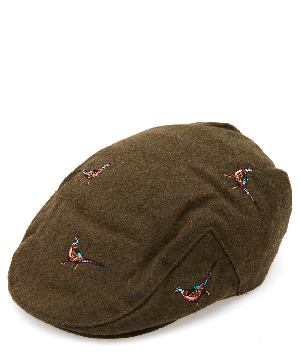 Barbour Olive Pheasant Flat Cap in Green for Men - Lyst 8ccdc83d5aa