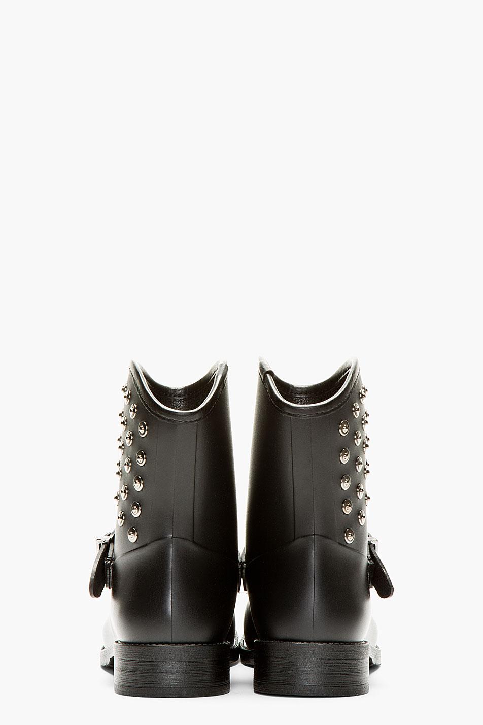Diesel Black Gammy Riveted Rain Boots Lyst