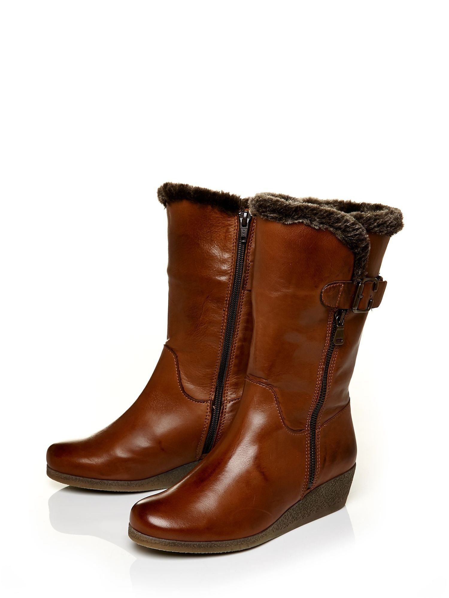 Moda In Pelle Farino Low Casual Short Boots in Tan (Brown)