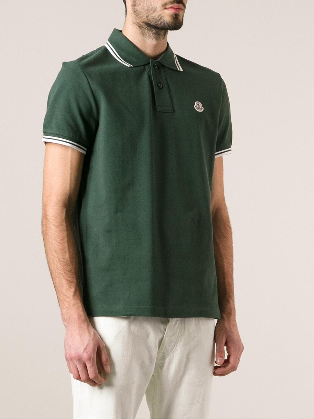 green moncler polo