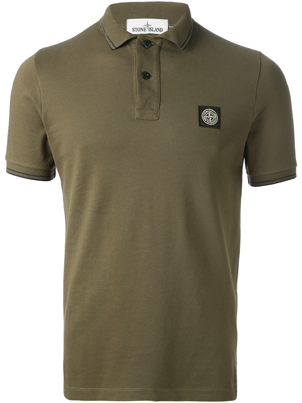 Lyst Stone Island Short Sleeve Polo Shirt In Green For Men