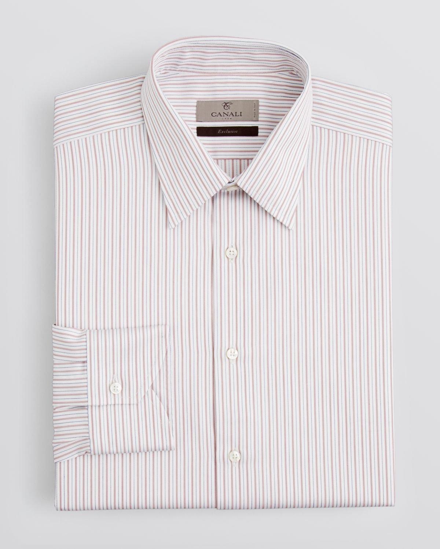 Canali textured herringbone stripe dress shirt regular for White herringbone dress shirt