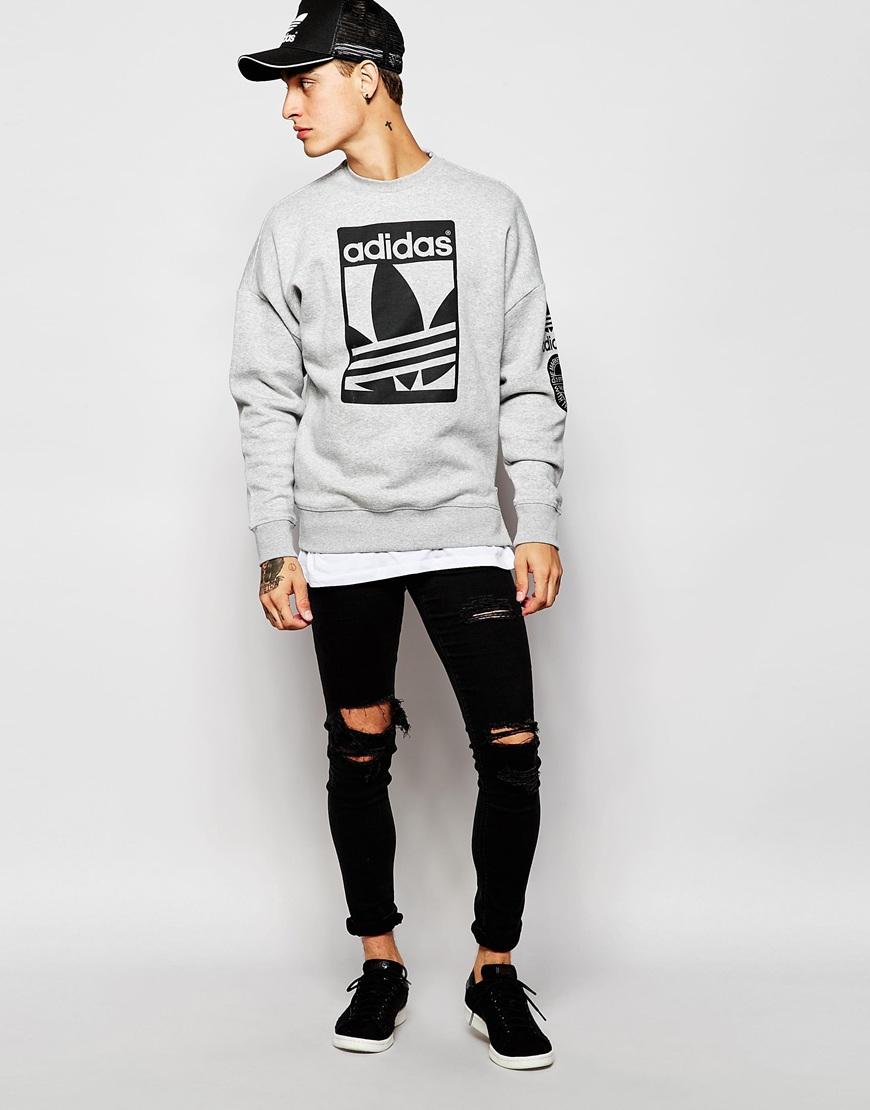 Adidas Originals Graphics Sweatshirt Ab8027 In Gray For