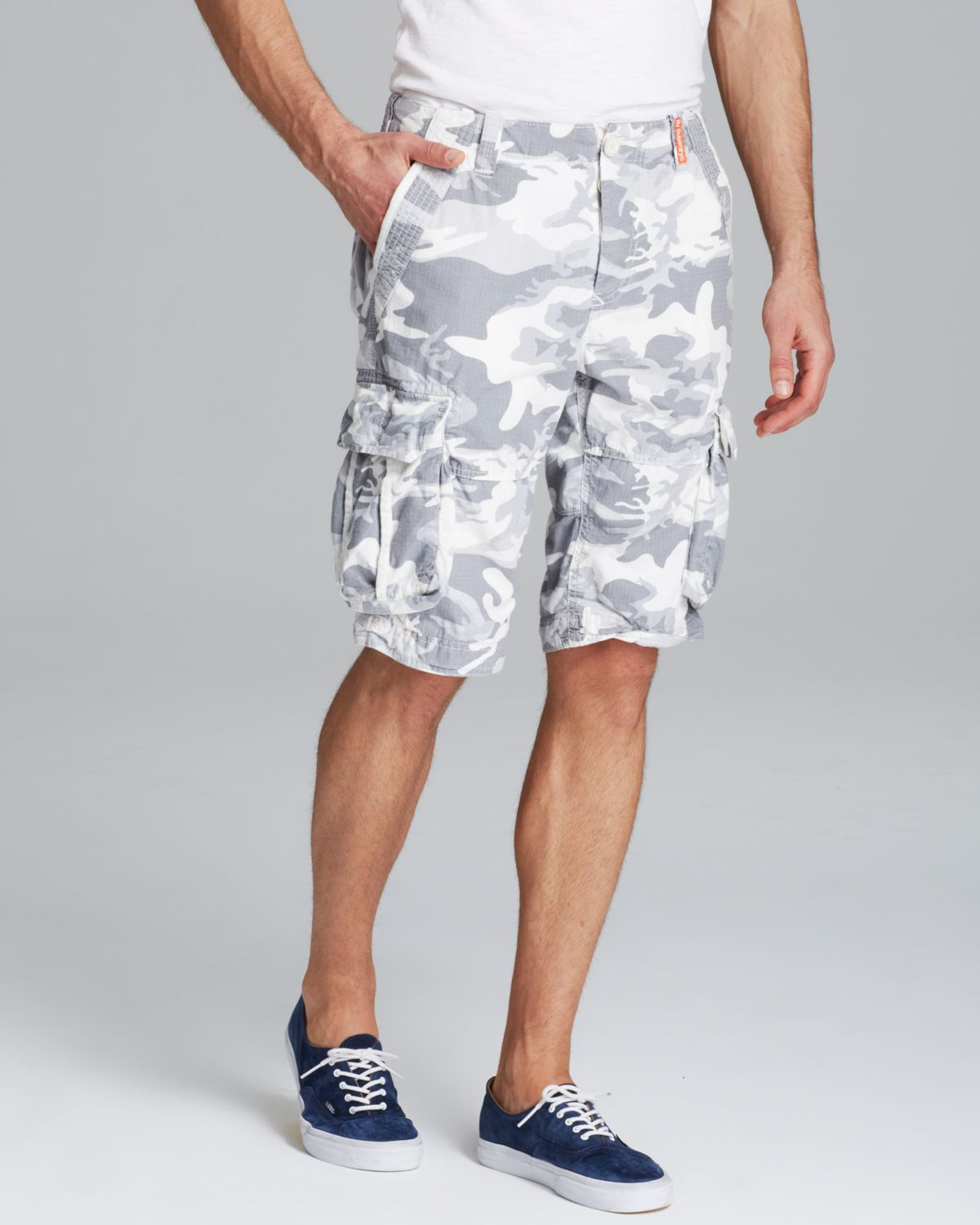 eb7239f335 Superdry Camo Ripstop Shorts in Gray for Men - Lyst