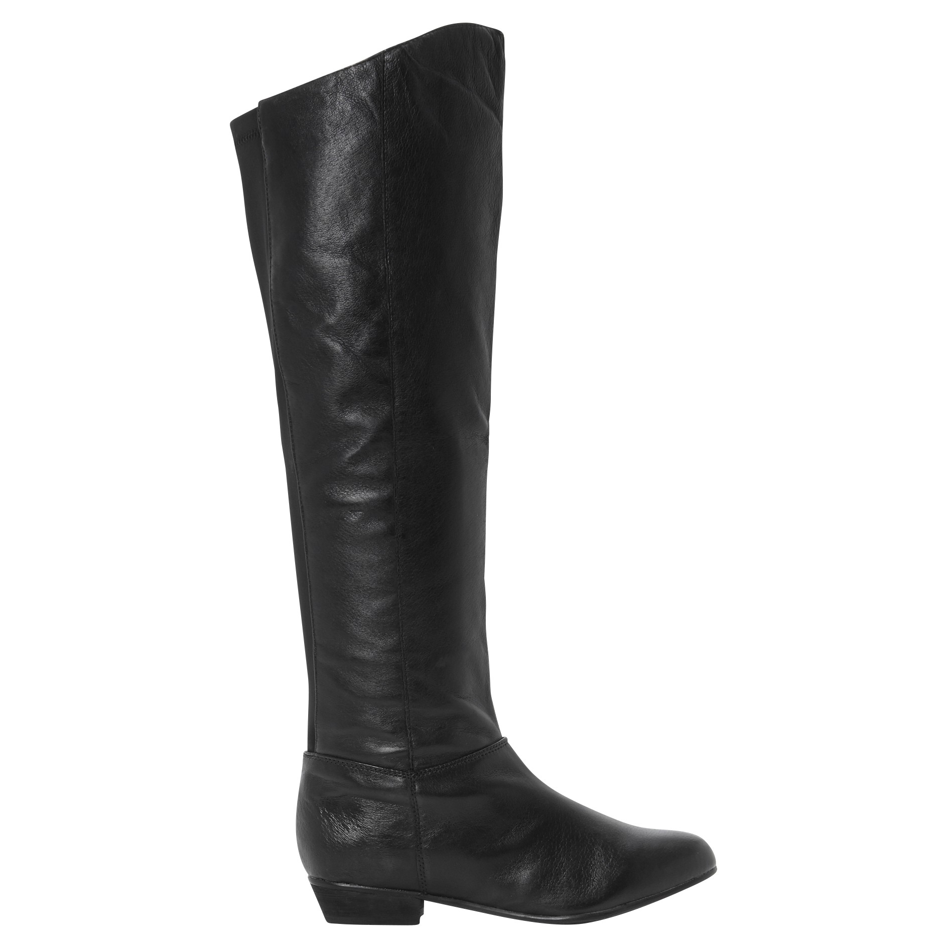 steve madden creation leather knee high boots in black lyst