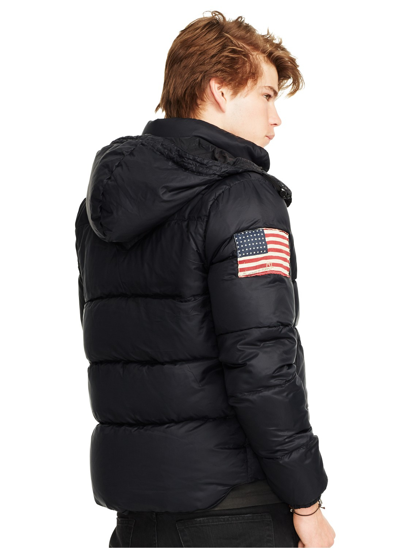 Denim and supply puffer jacket