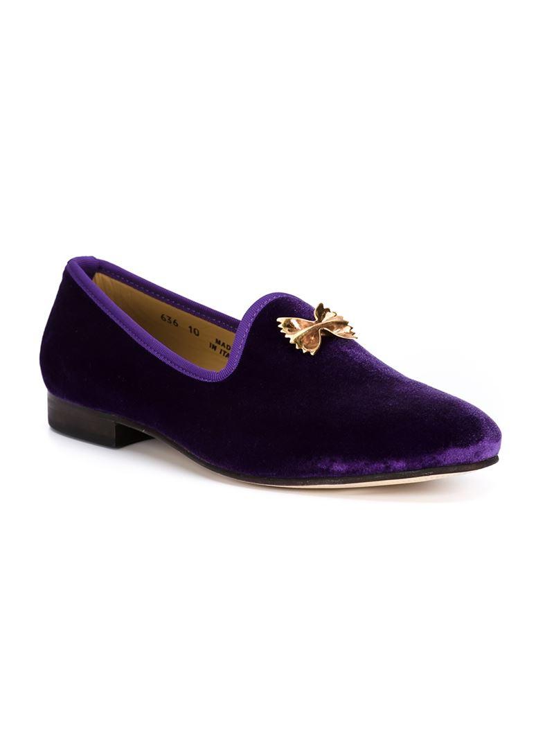 Del Toro Bow Slippers in Pink & Purple (Purple) for Men