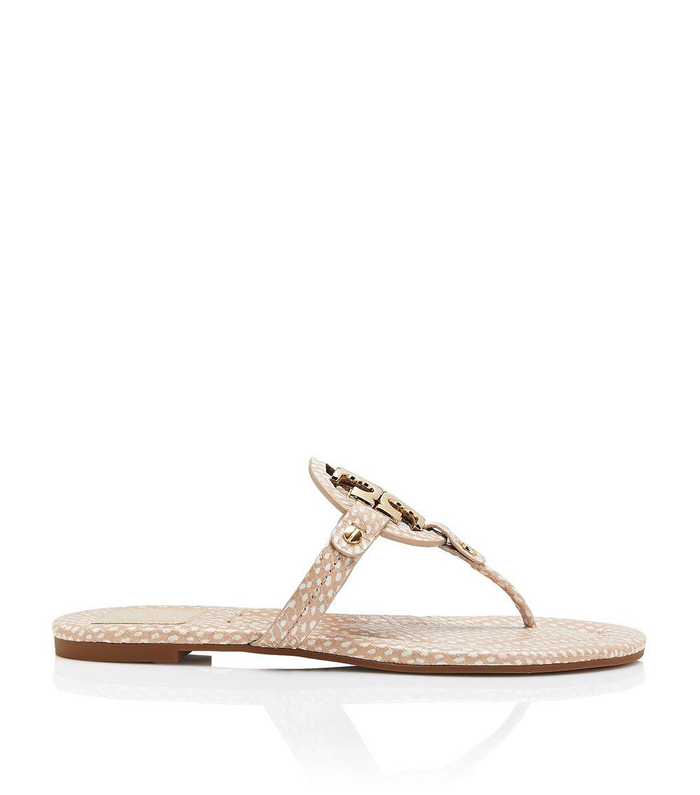 Tory Burch Miller 2 Polka Dot Sandal In Natural - Lyst-4839