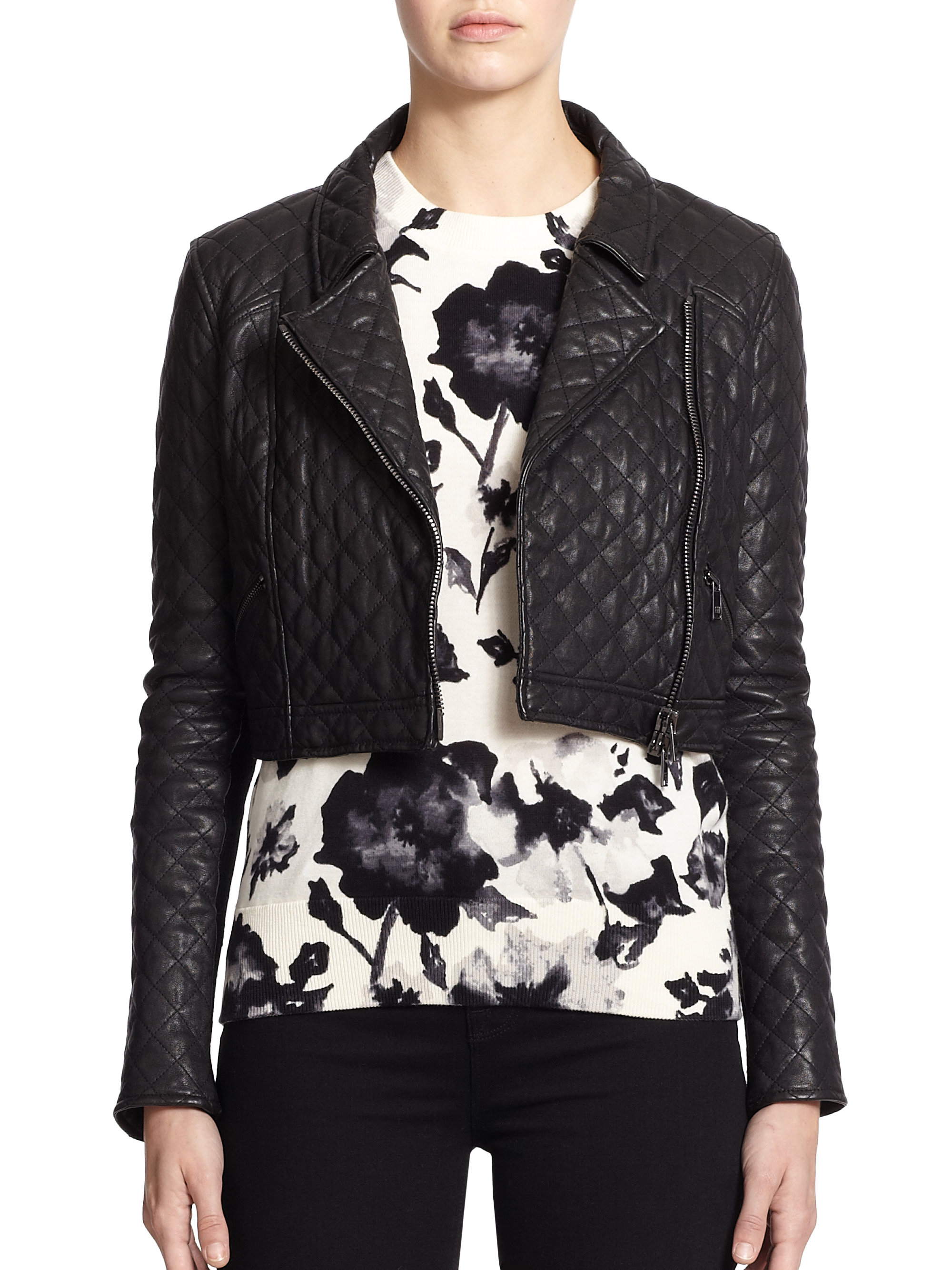 Haute hippie quilted leather jacket