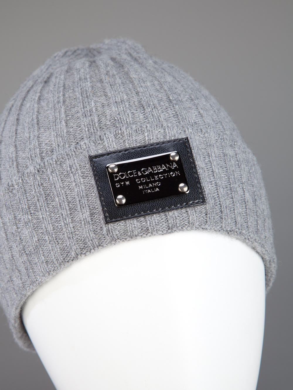 Dolce & gabbana Ribbed Beanie in Gray for Men | Lyst