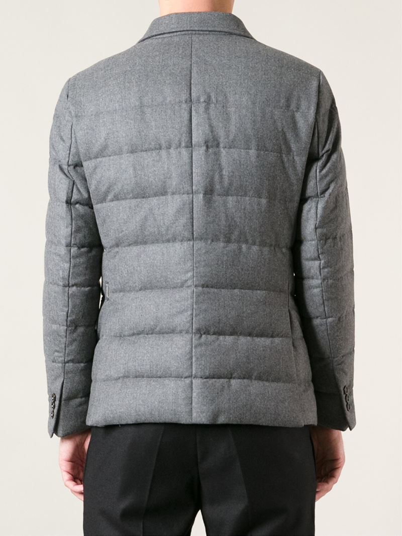 Moncler 'rodin' Padded Jacket in Grey (Grey) for Men