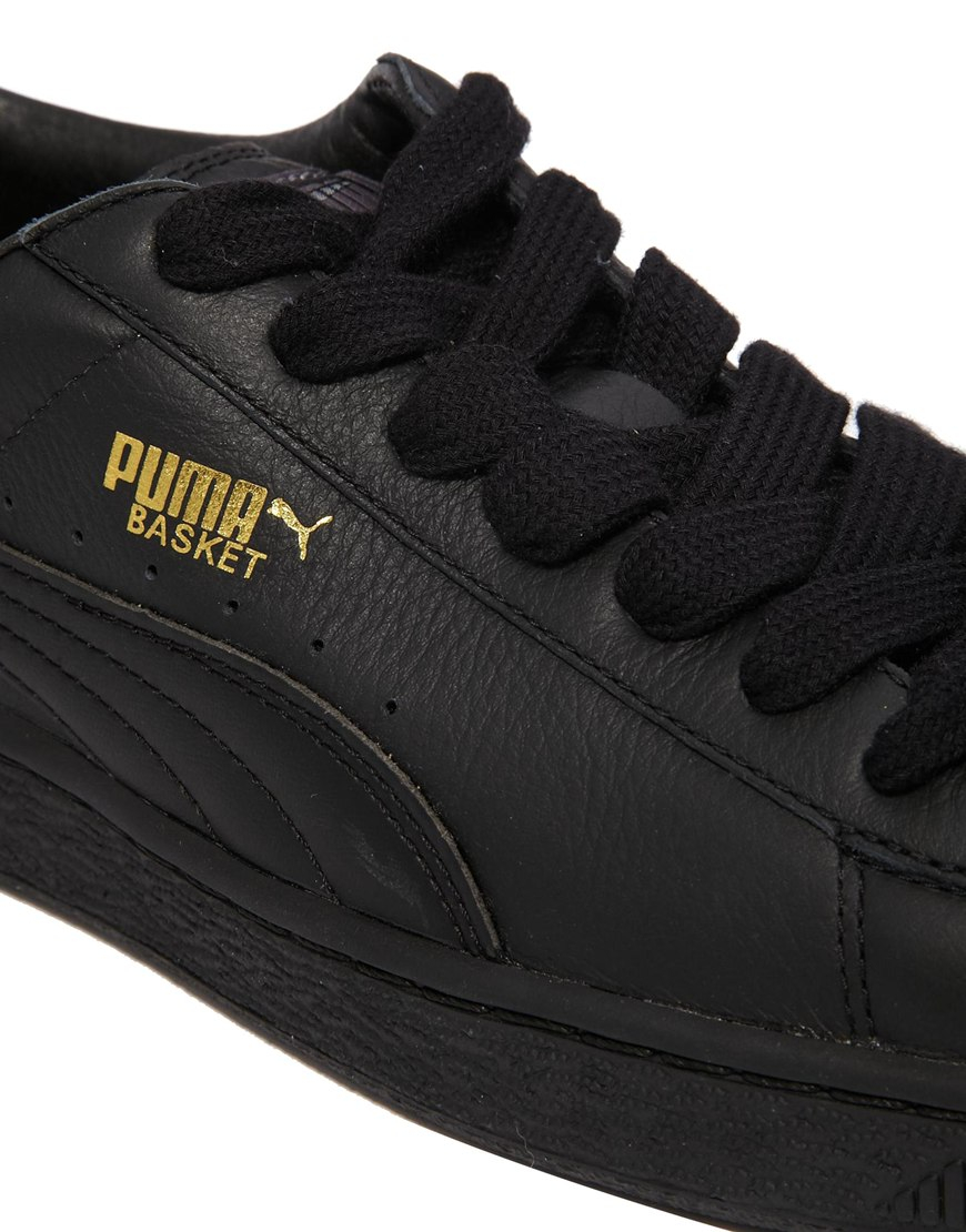 Lyst Puma Basket Leather Sneakers In Black For Men
