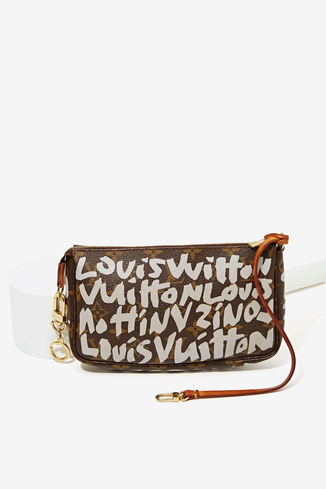 2c9083027133 Lyst - Louis Vuitton Vintage Stephen Sprouse Gray Pochette in Brown