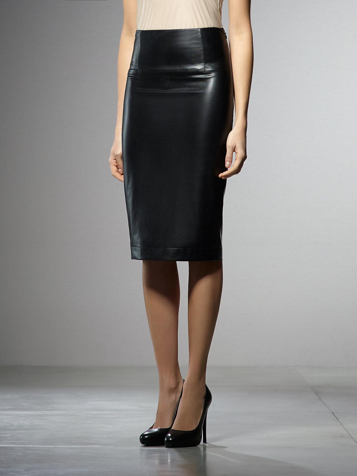 Leather Skirt High Waisted