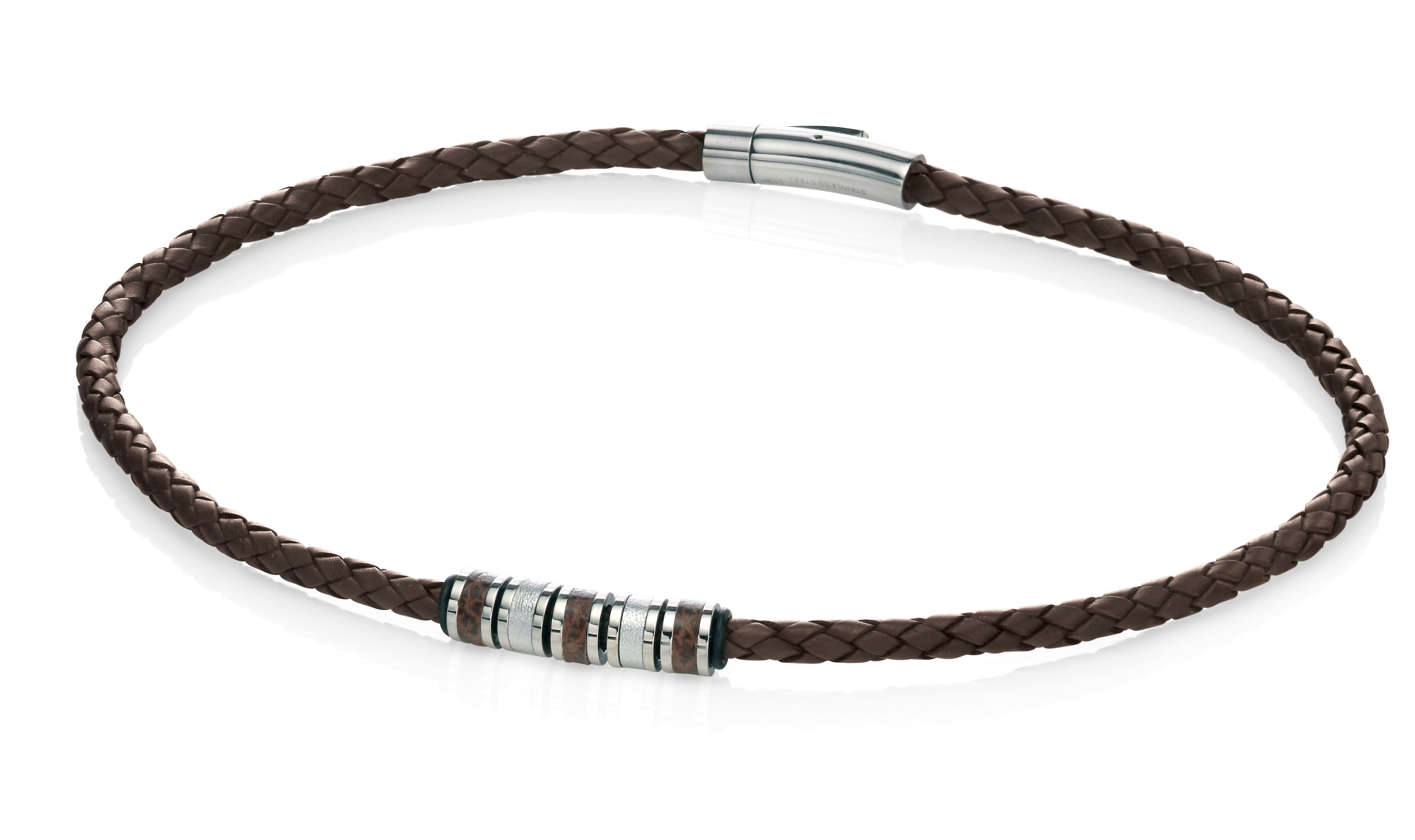 Fred Bennett Brown Leather Necklace In Brown For Men Lyst