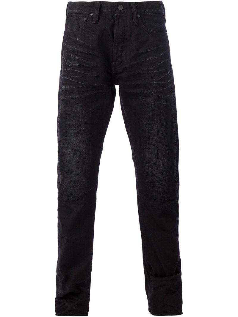 Mastercraft Union Denim Straight Fit Jeans in Black for Men