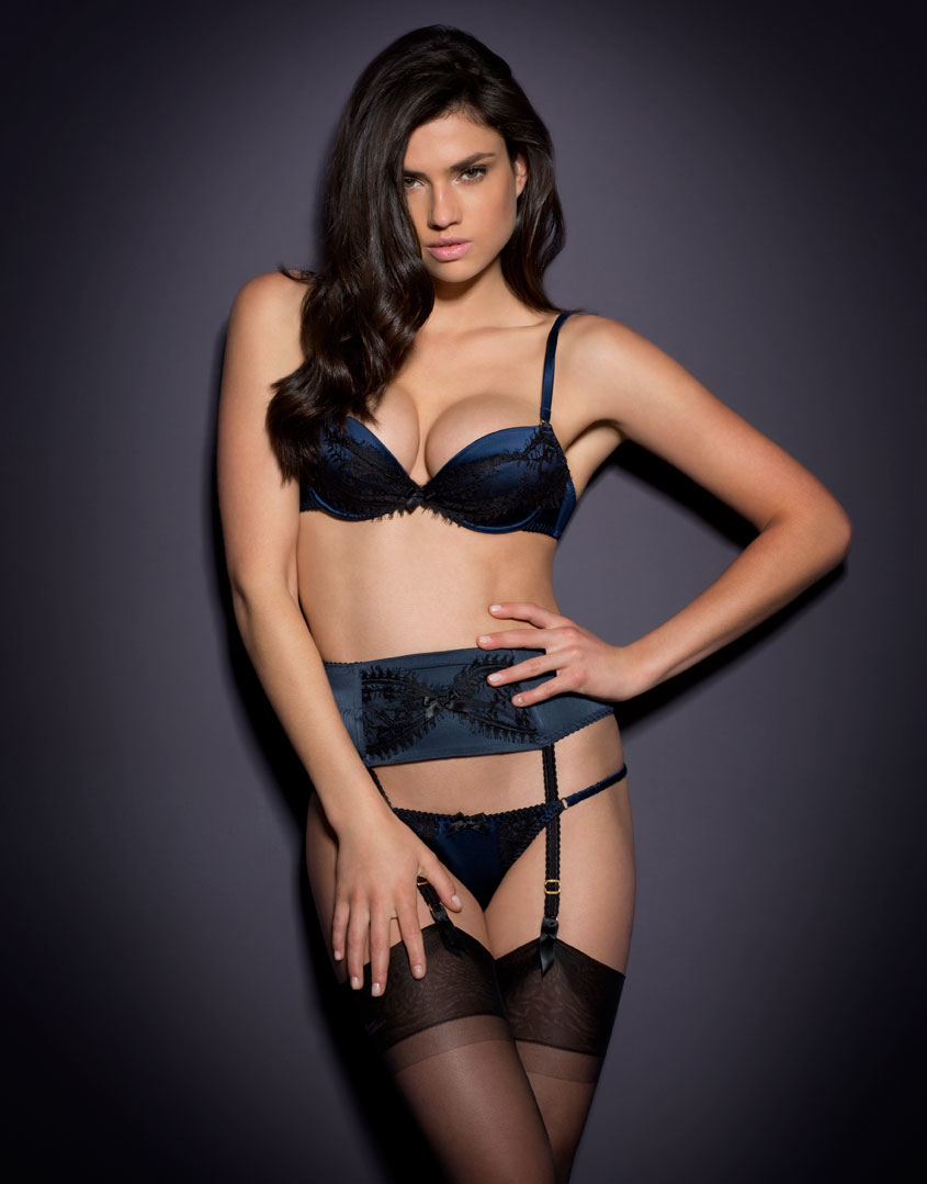 ac4ed50caa Agent Provocateur Stephanee Bra Navy black in Blue - Lyst
