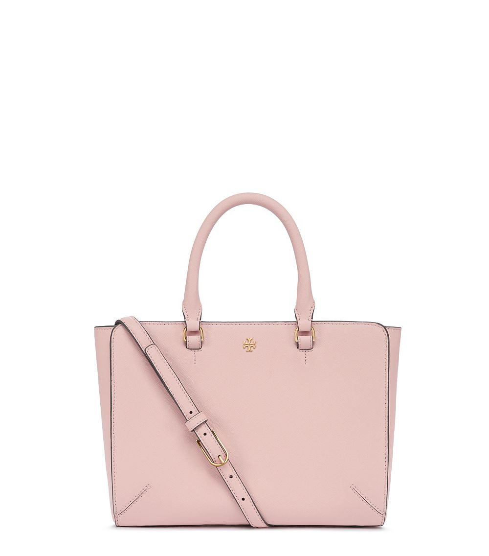 Tory Burch Robinson Small Zip Tote In Pink