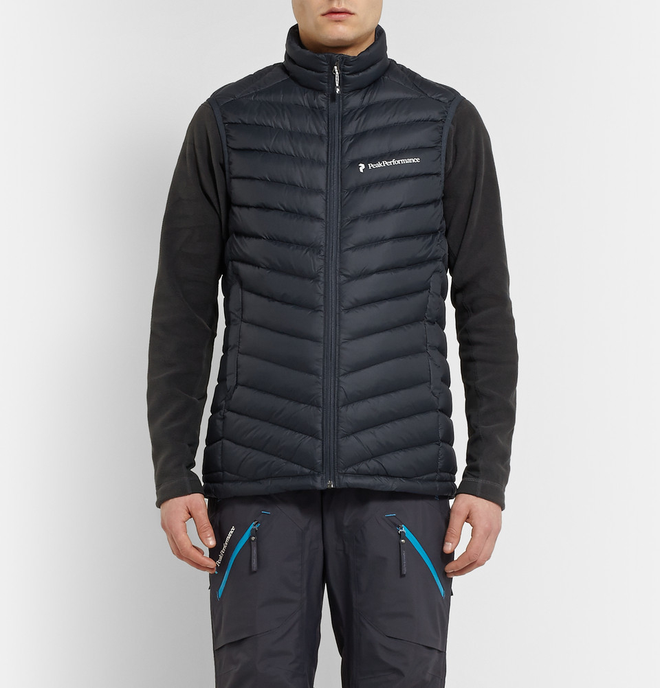 Lyst Peak Performance Frost Quilted Gilet In Blue For Men
