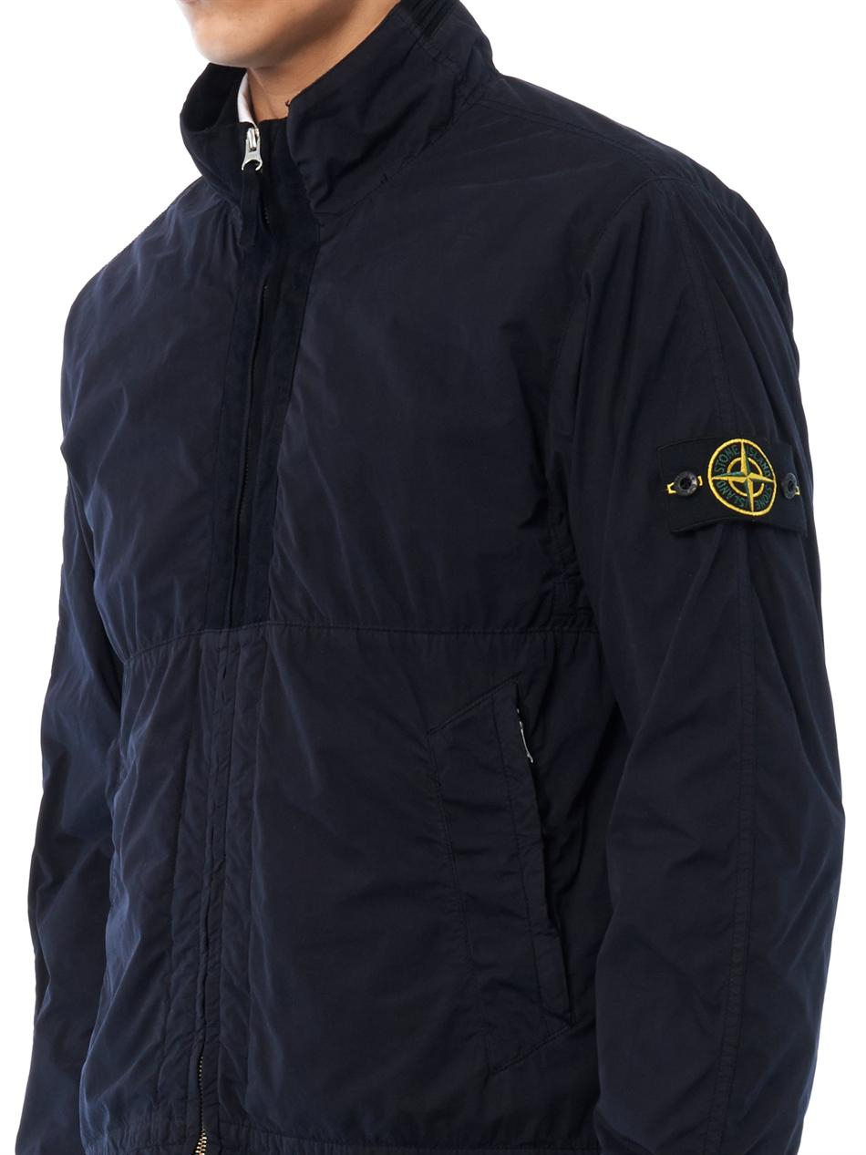 stone island harrington funnelneck jacket in blue for men lyst. Black Bedroom Furniture Sets. Home Design Ideas
