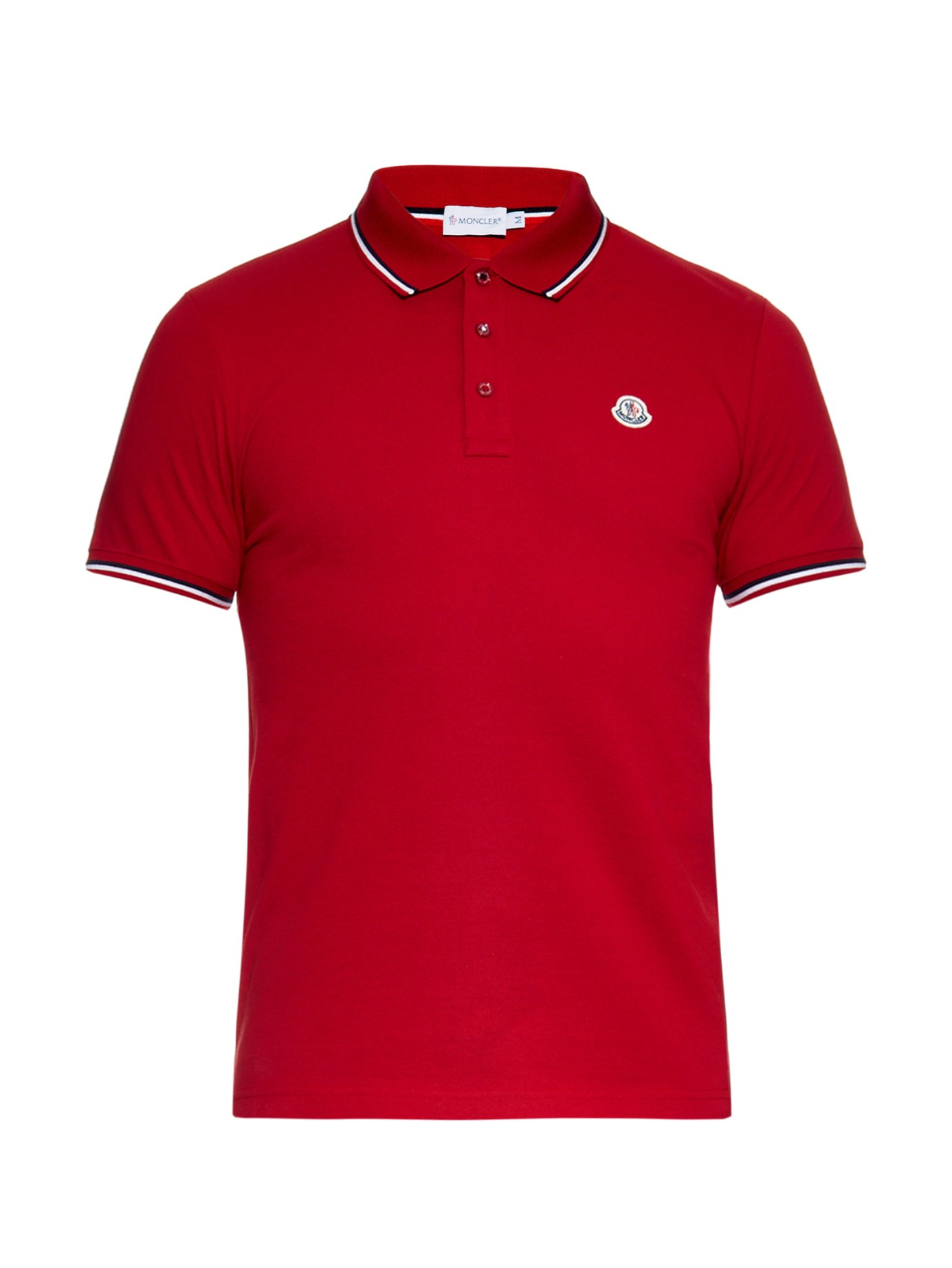 moncler white polo mens