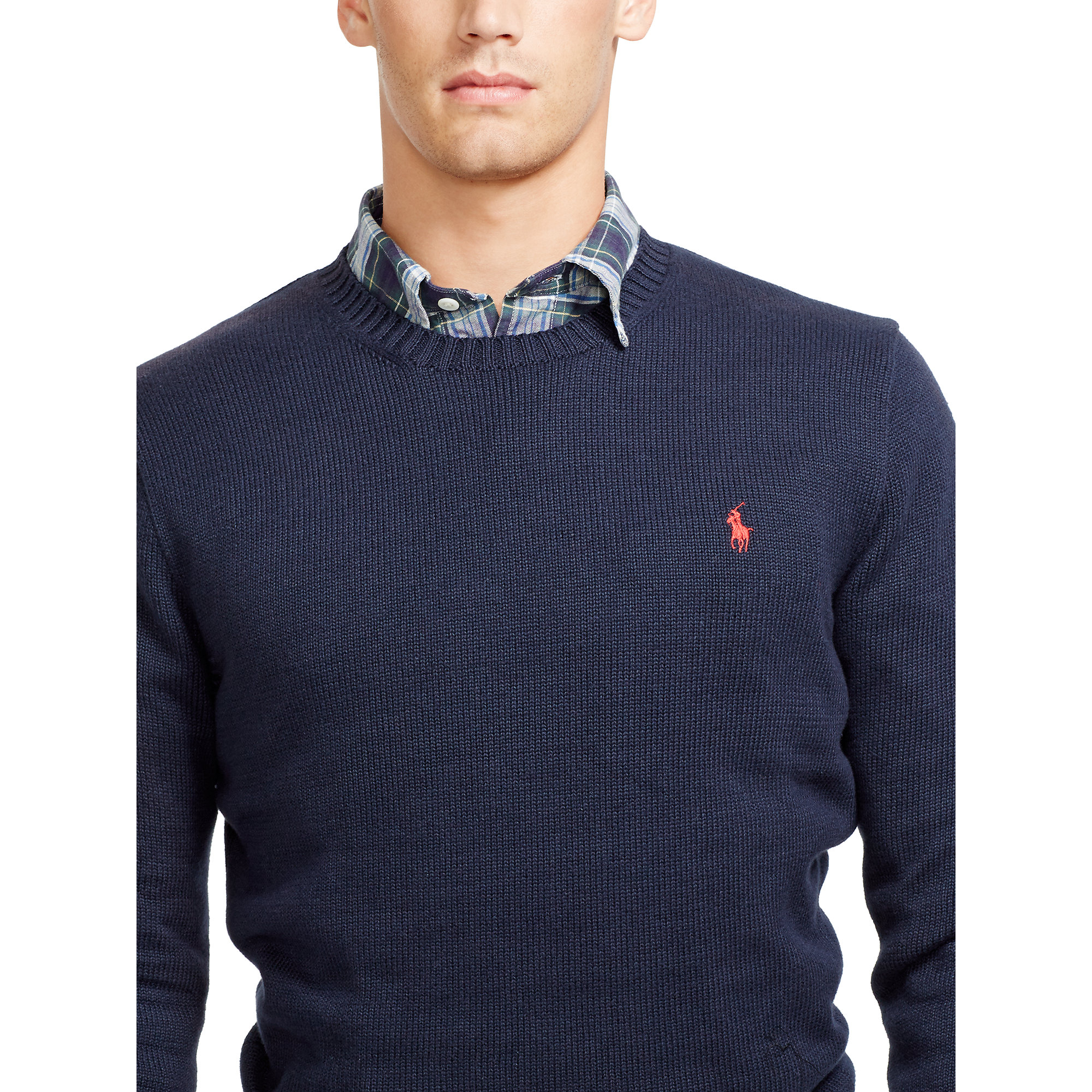 545c1d2dc7d Lyst - Polo Ralph Lauren Cotton Crewneck Sweater in Blue for Men