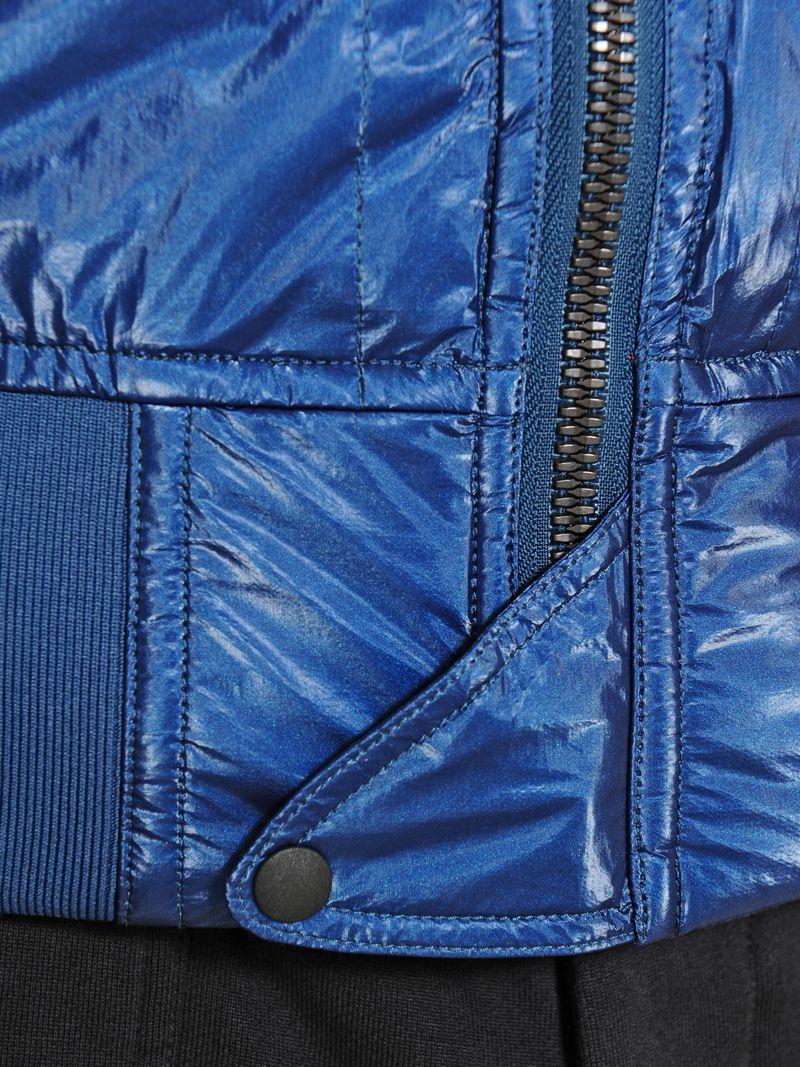 Y-3 Shinny Techno Bomber Jacket in Blue for Men
