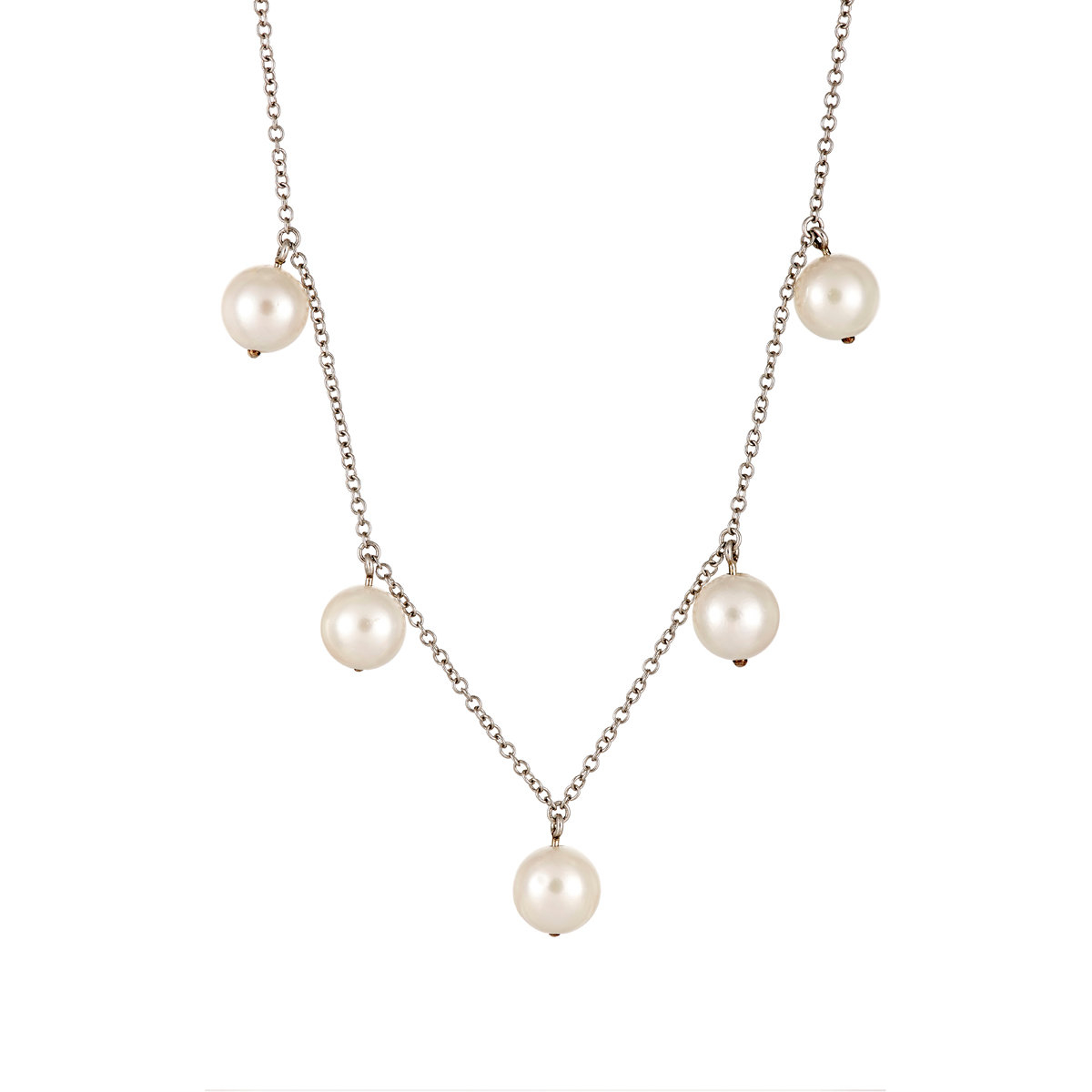 Pearl Platinum: Cathy Waterman Women's Pearl & Platinum Necklace In
