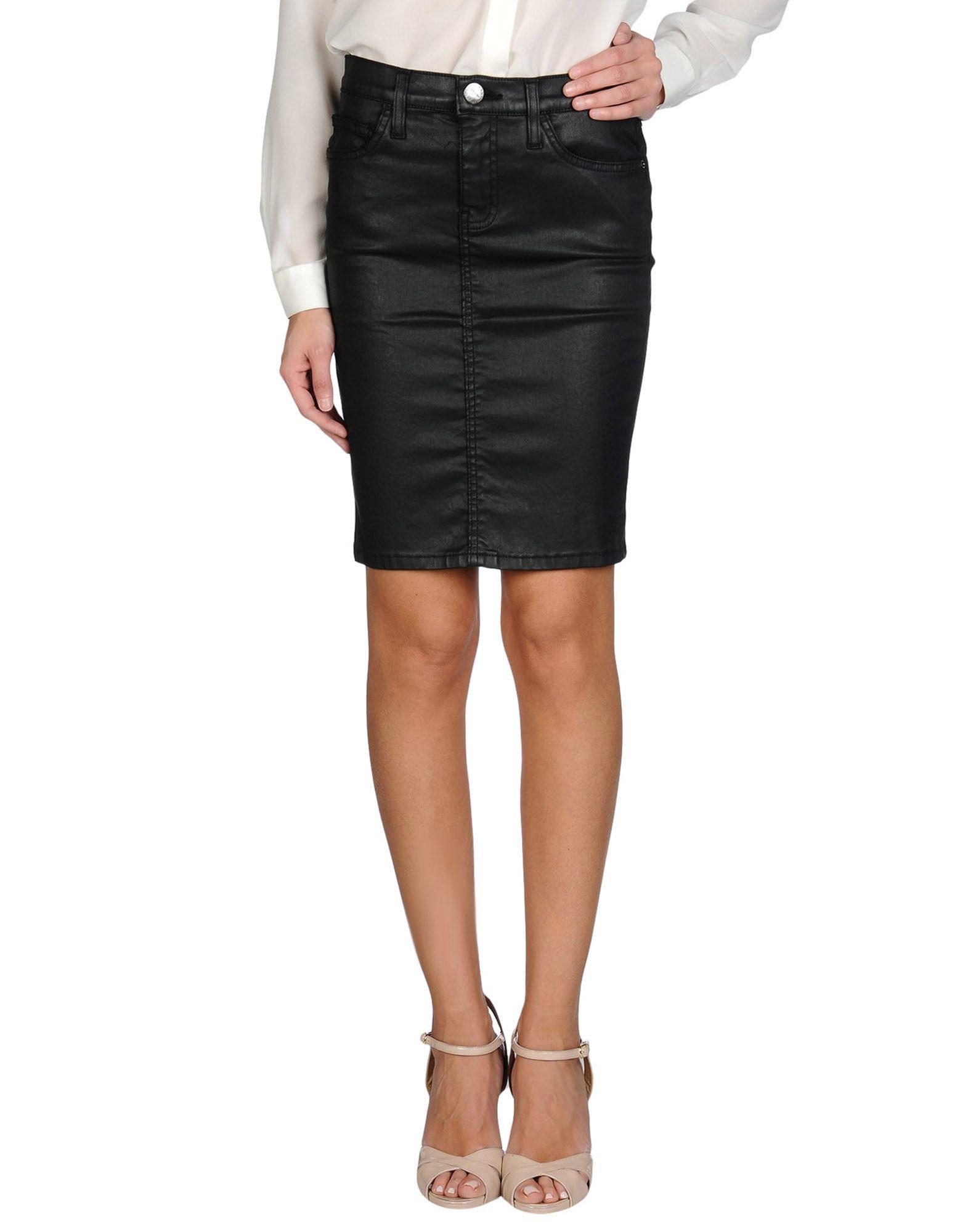 current elliott denim skirt in black lyst