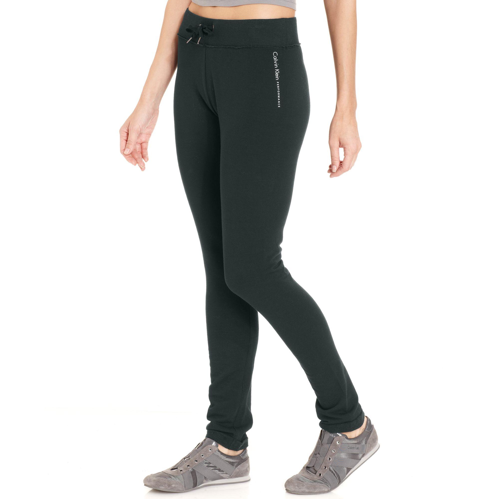 32260584cd957 Lyst - Calvin Klein Performance Drawstring Leggings in Gray calvin klein  performance leggings with pockets