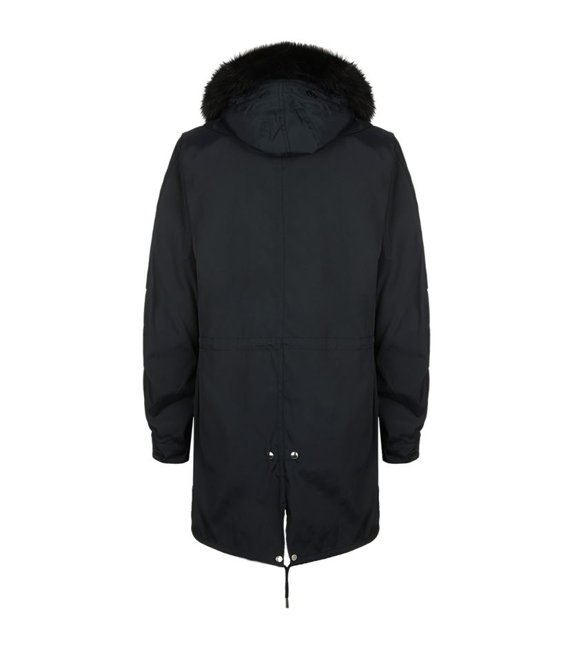 Sandro Mods Parka Jacket in Blue for Men
