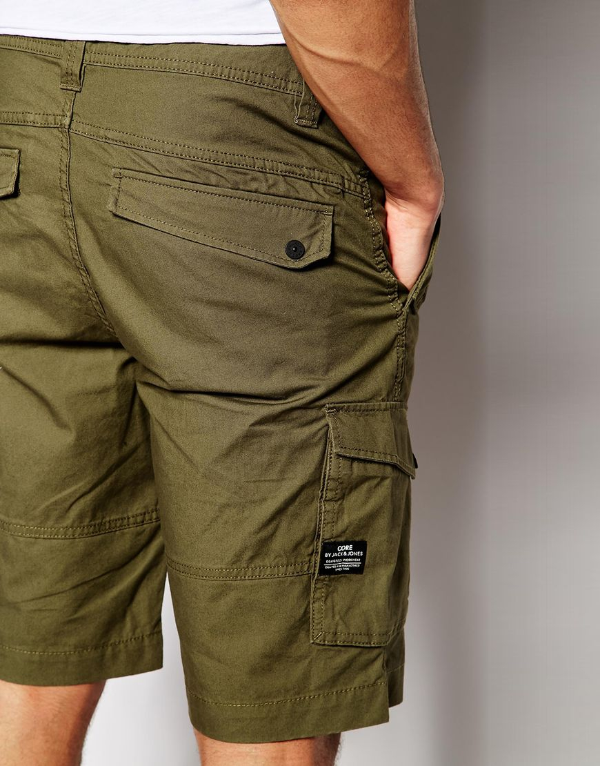 c1f5db2e7af07 Jack & Jones Cargo Shorts in Green for Men - Lyst