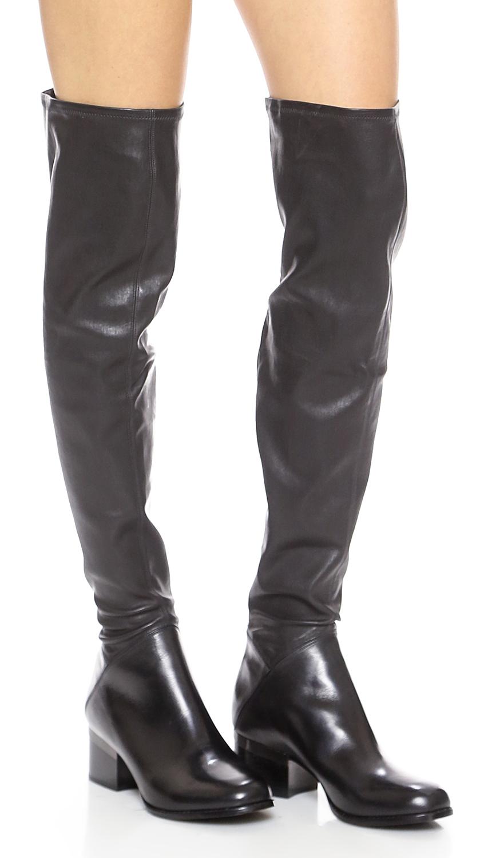 Rachel Zoe Sierra Over The Knee Boots - Black
