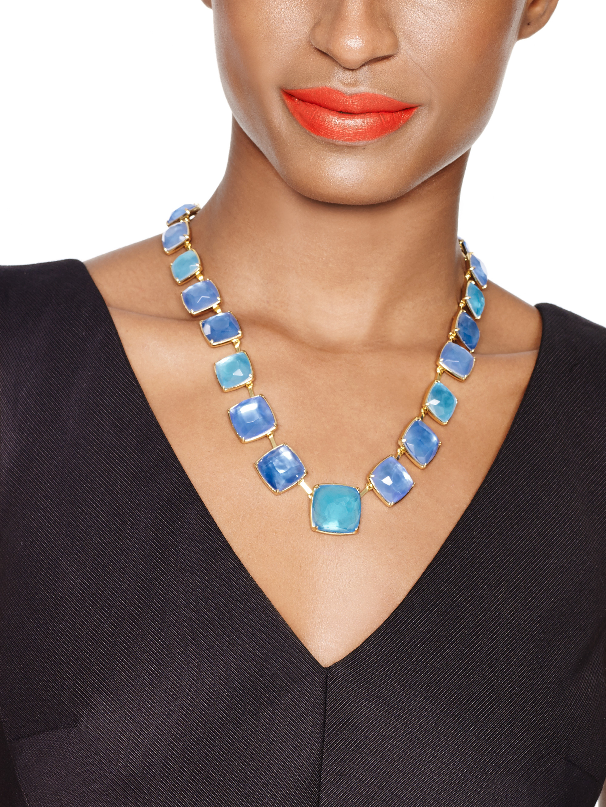 Kate Spade Madison Ave. Collection Swan Dive Collar Necklace in Blue