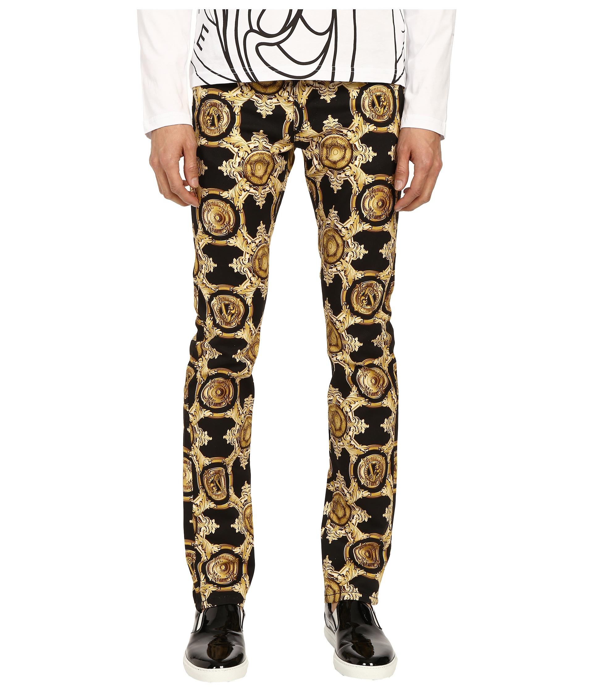 Lyst Versace Jeans Baroque Medallion Print Slim Fit