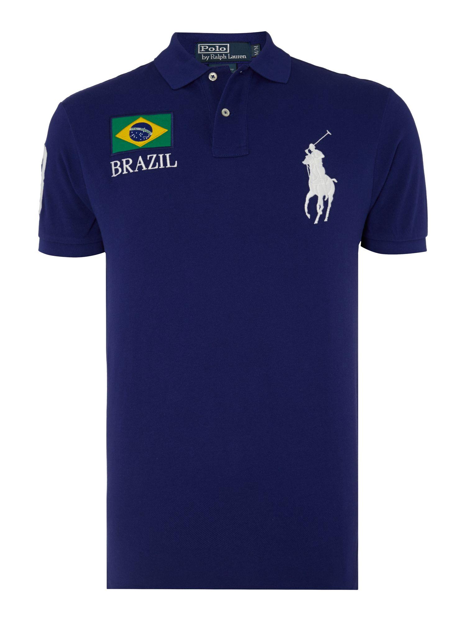 Lyst polo ralph lauren ralph lauren brazil theme polo for Lauren ralph lauren mens dress shirts