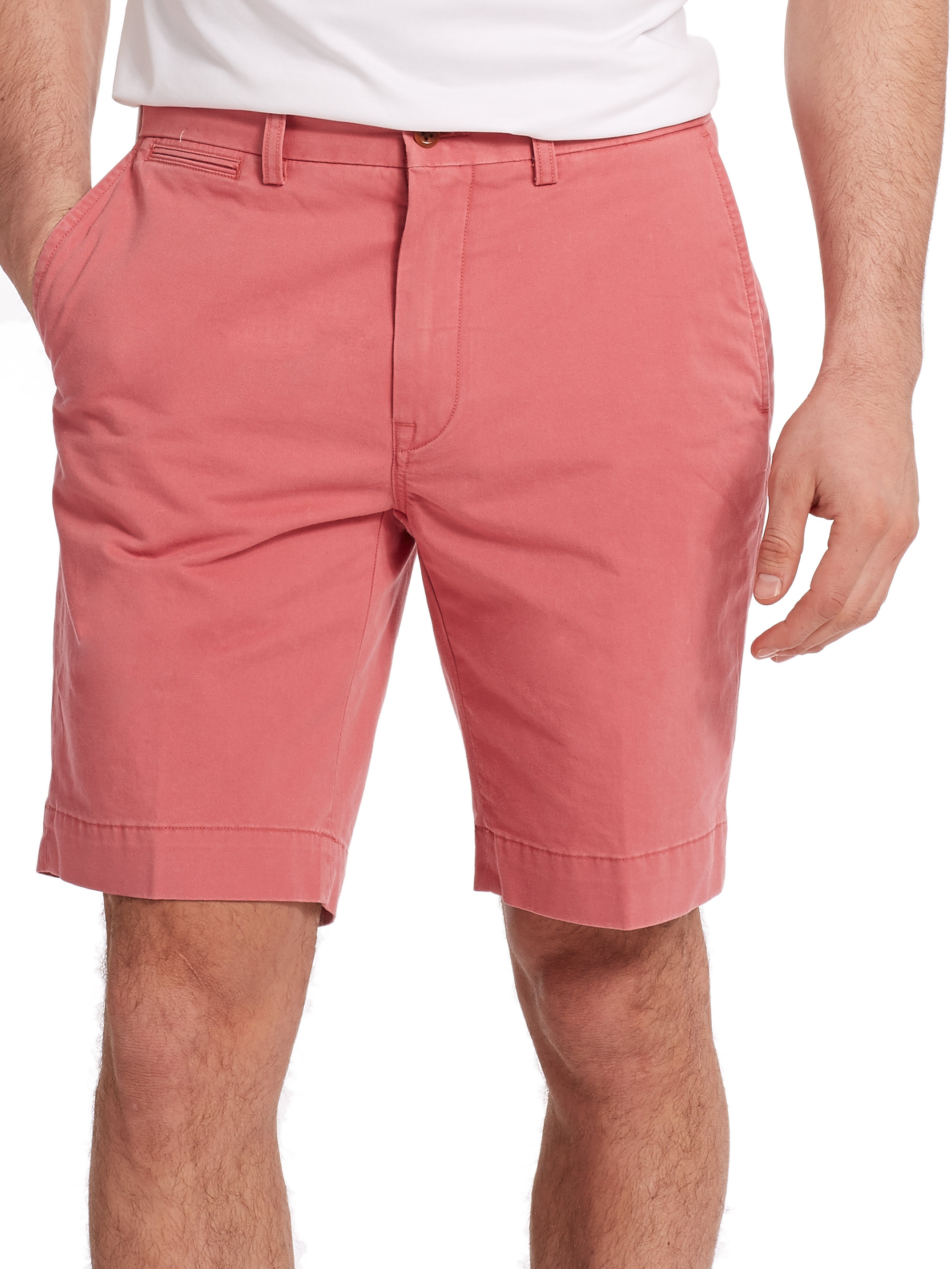 Polo ralph lauren Classic-Fit Lightweight Chino Shorts in Pink for ...