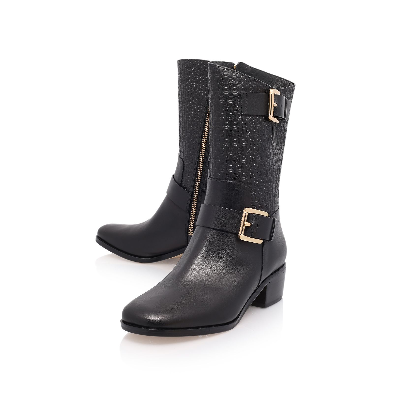 Michael Kors Leather Breck Ankle Boot in Black