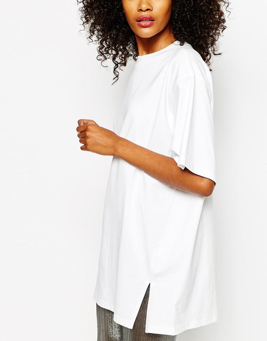 monki oversized t shirt dress
